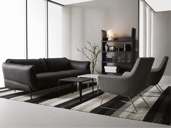 soffa med fåtölj